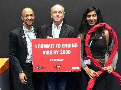 Mike with the StopAIDS team