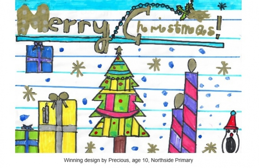 Winning Christmas Card Competition Designs By Local Pupils | Mike Freer MP